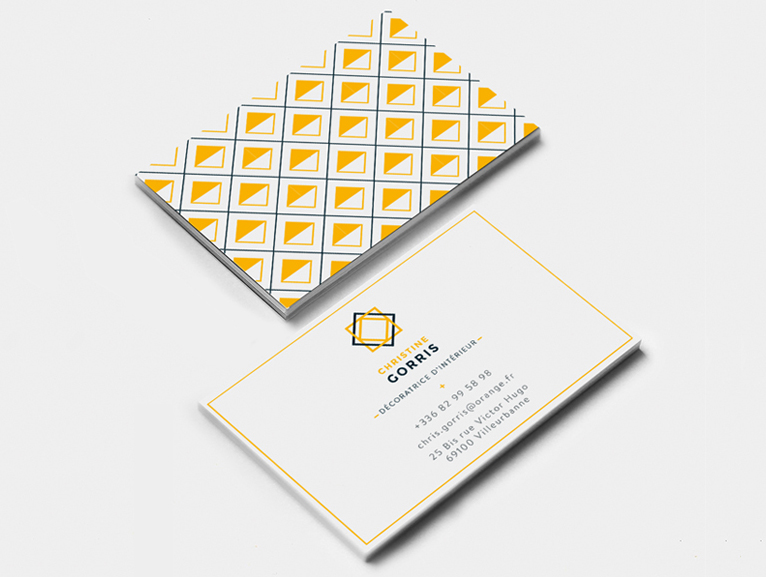 pattern business card