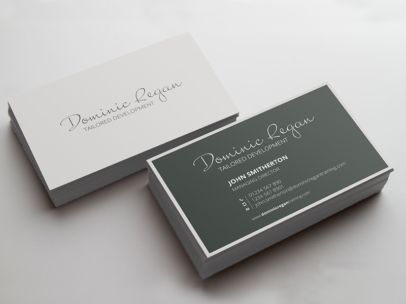 single color business card