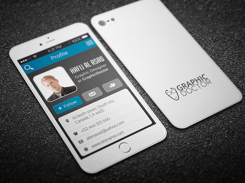 iPhone style business card inspiration - CardFaves