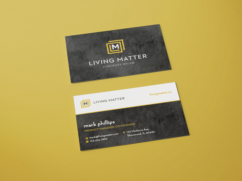 Living Matter Business Card inspiration - CardFaves