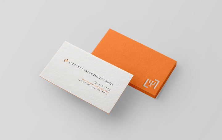 Llerandi Psychology Center Business Card Inspiration Cardfaves
