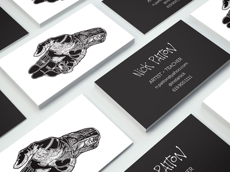 Business cards of Nick Patton inspiration - CardFaves