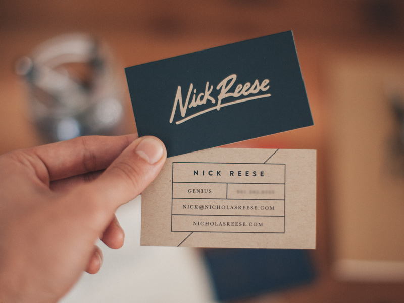 Nick Reese business card inspiration - CardFaves