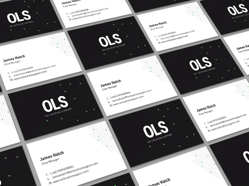 support business card