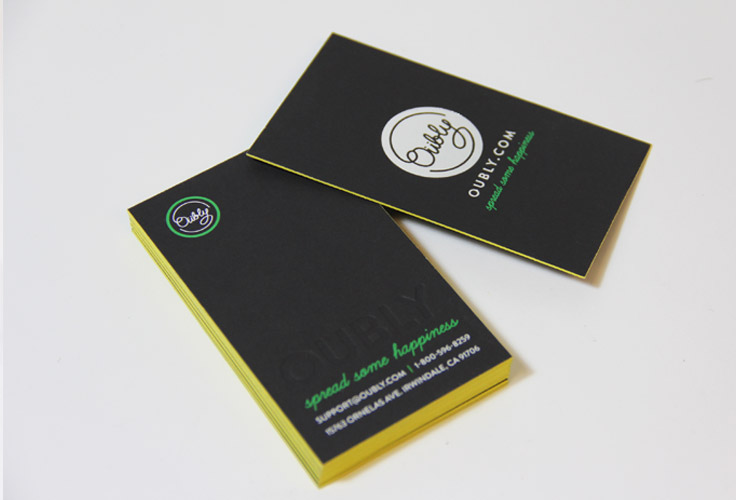 edge colored business card