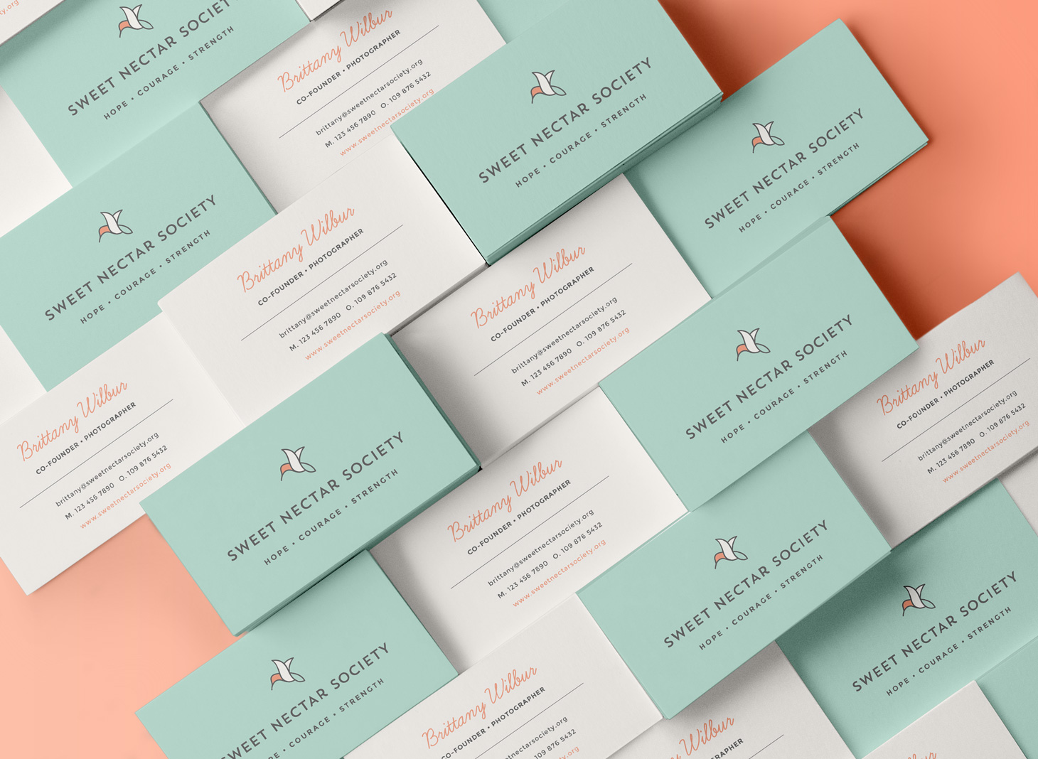 Sweet nectar business cards inspiration cardfaves pastel business card colourmoves