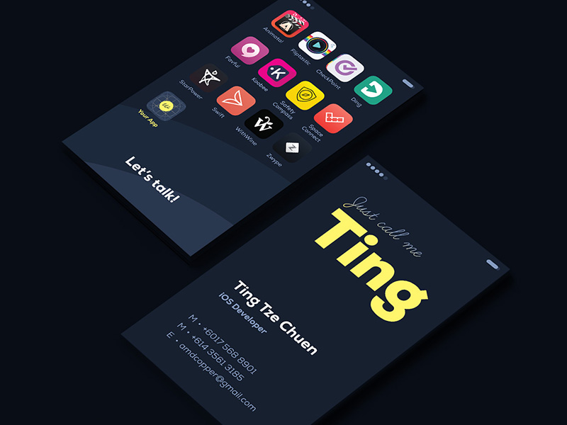Ting business card inspiration - CardFaves