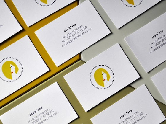 anah•xha˚com business card