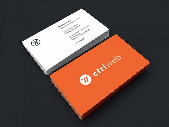 Web design business cards inspiration cardfaves ctrlweb business card reheart Images