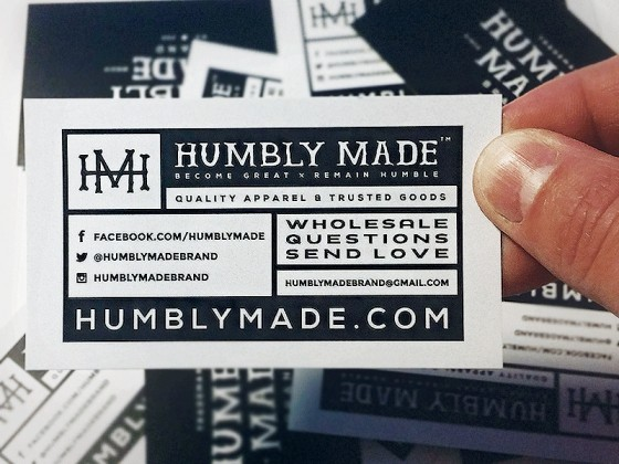 Humbly Made business card