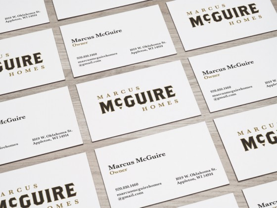 Marcus McGuire Homes business cards