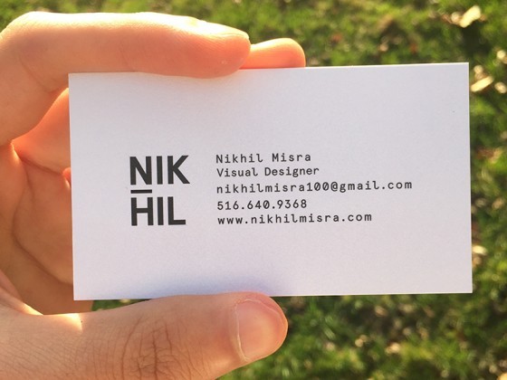 Nikhil Misra business card