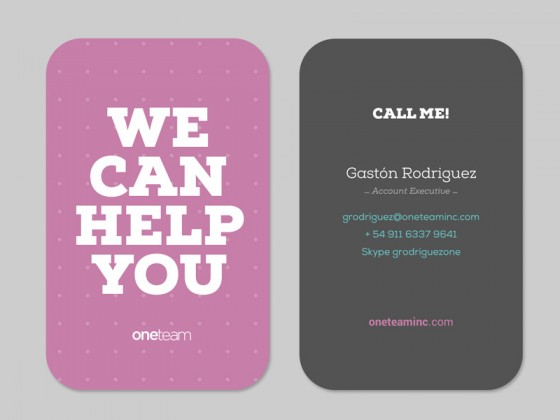 One Team business card