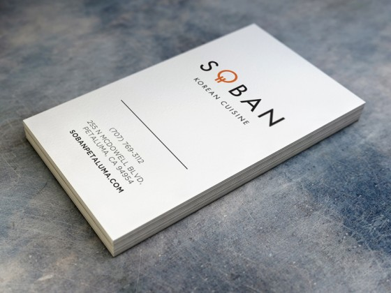 Soban Korean Cuisine business card