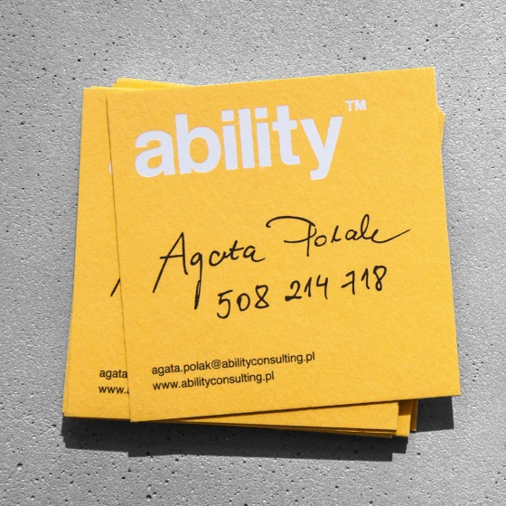 Ability Consulting business card