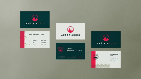 Arete Audio business cards