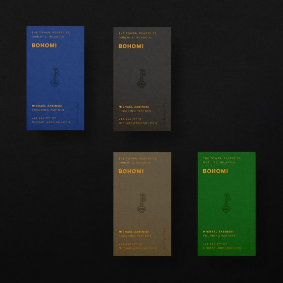 Bohomi business cards