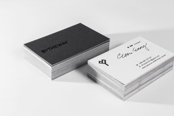 By The Way business cards