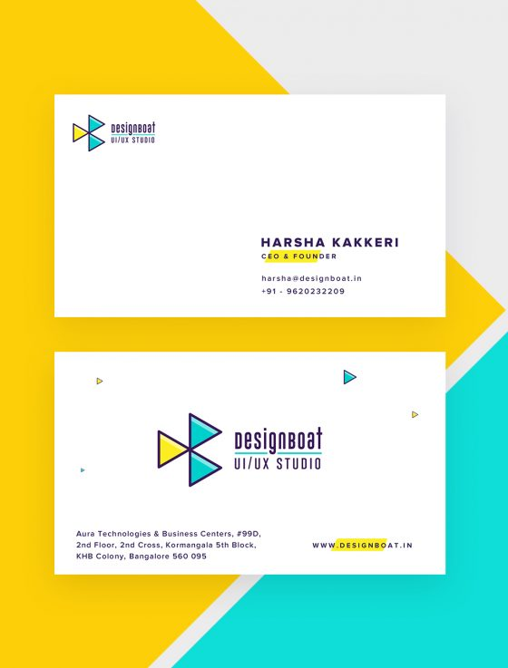 Business card of DesignBoat