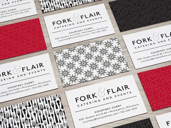 Fork and Flair business cards