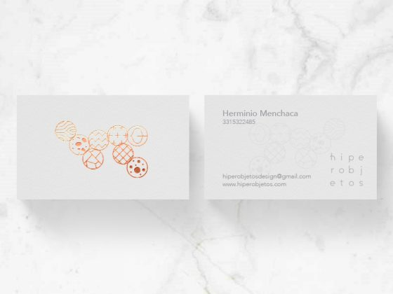 Hiperobjetos business card
