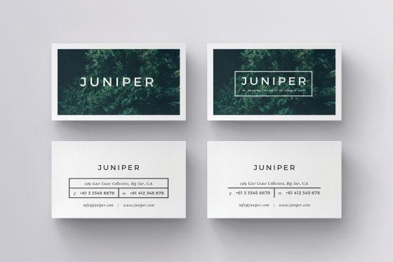 Juniper business cards template