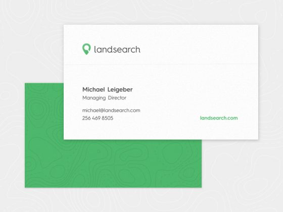 Landsearch business card