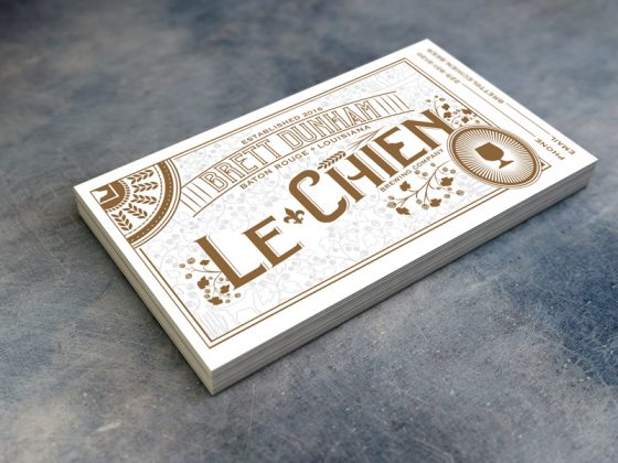 Le Chien business card