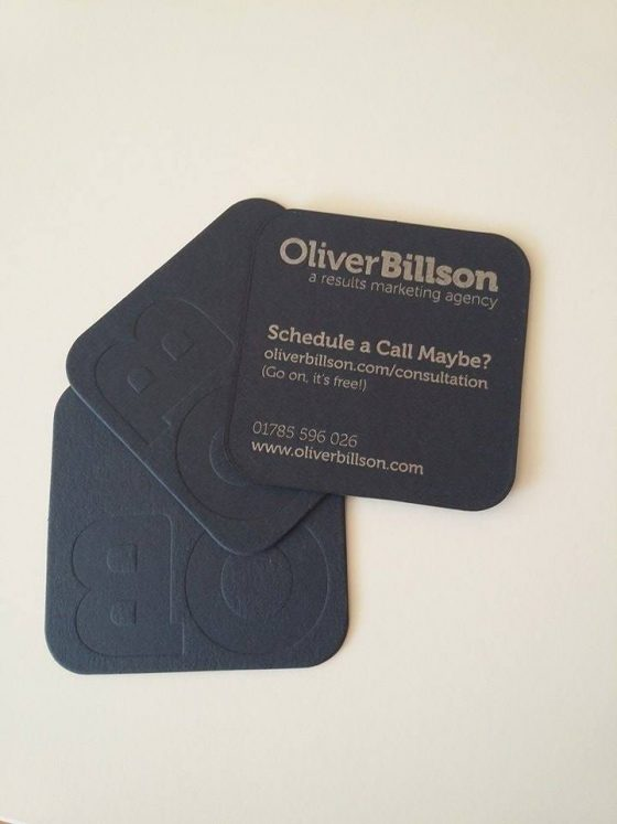 Oliver Billson Marketing Business Cards