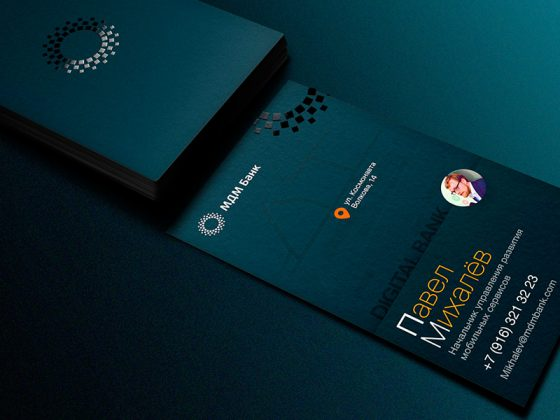 MDM Bank business card