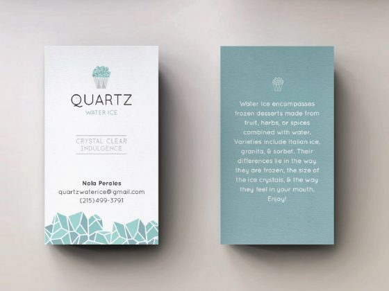 Quartz business card