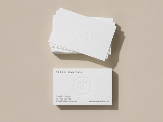 Sarah Mangion business card