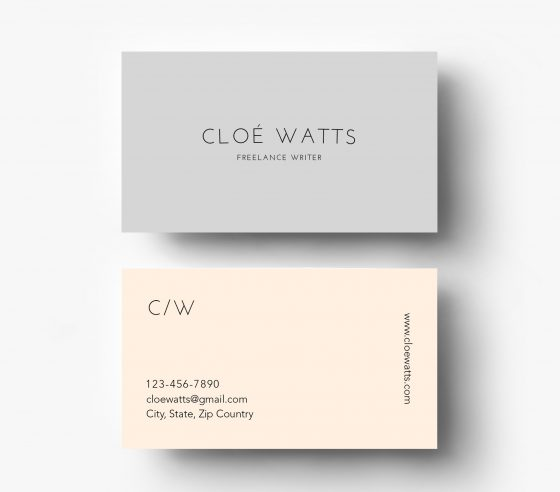 Simple & Modern business card template