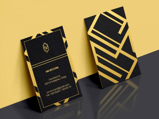 SM Furniture business card