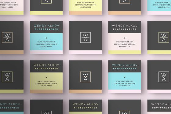 Square Business Cards Inspiration CardFaves - Square business card template