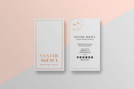 Stylish minimal business card template