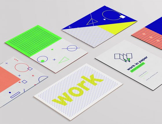 Work in paper business cards