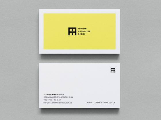 Florian Hierholzer business card