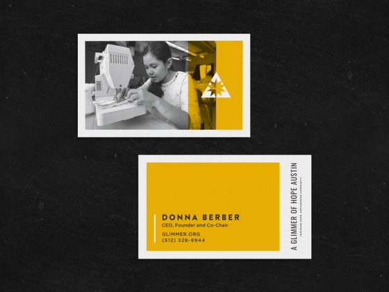 Glimmer business card