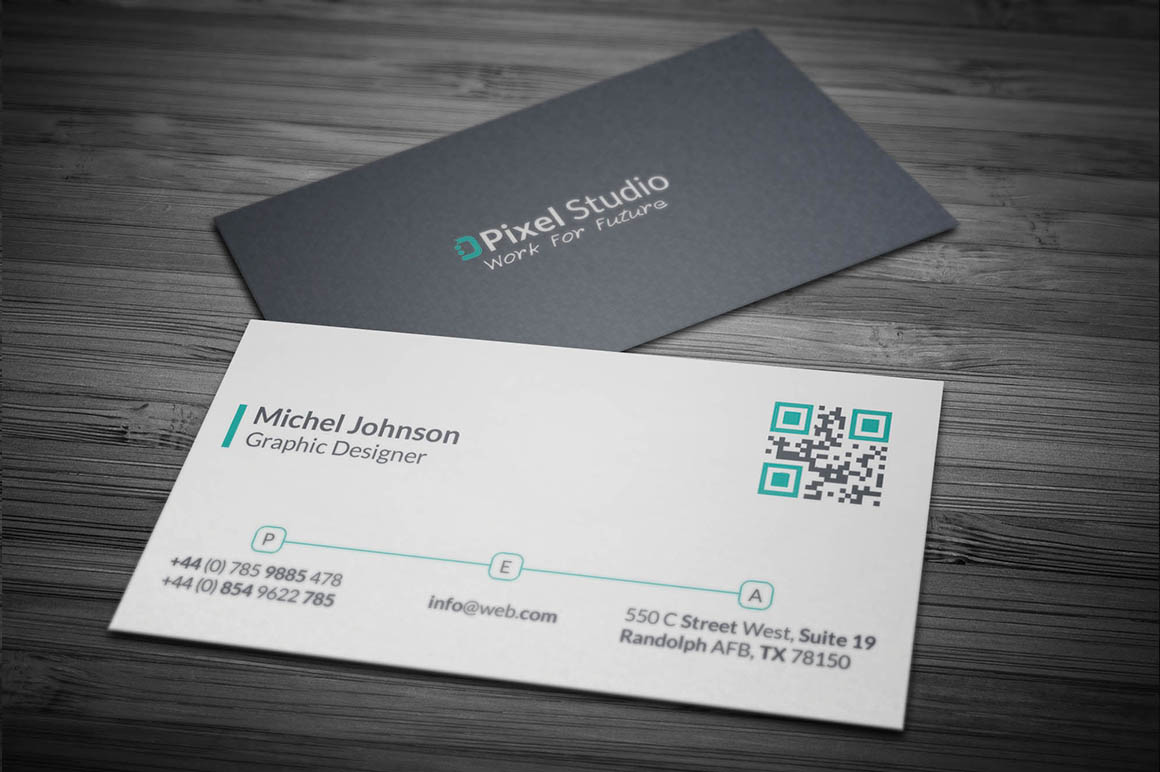 Modern corporate business card template inspiration for Template of business card