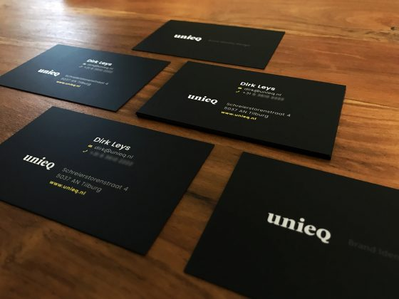 New unieq business card