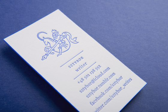 Business cards of Sztybor