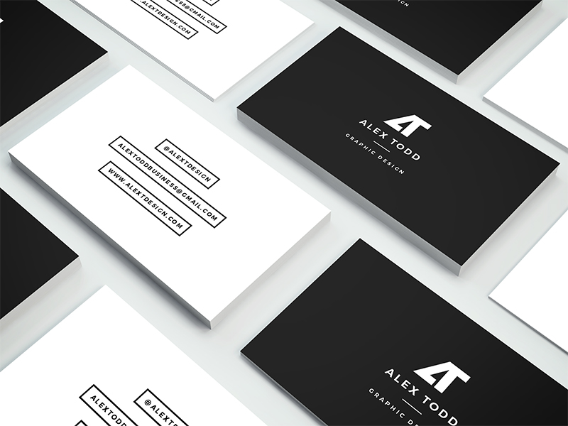 These are the personal business cards of graphic designer Alex Todd ...