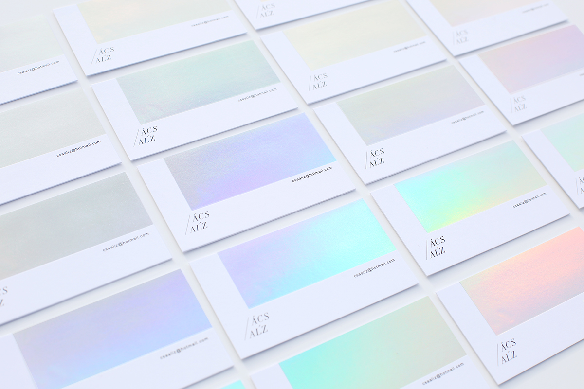 gradient business card