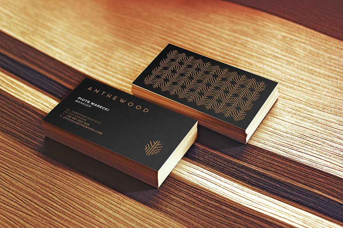 Anthewood furniture business card inspiration cardfaves dark business card colourmoves