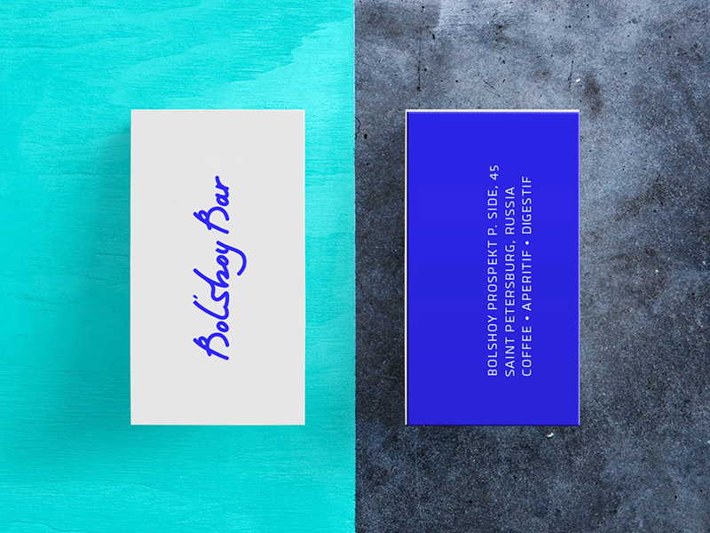 bar business card