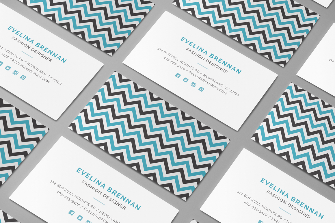 Chevron business card template inspiration - CardFaves