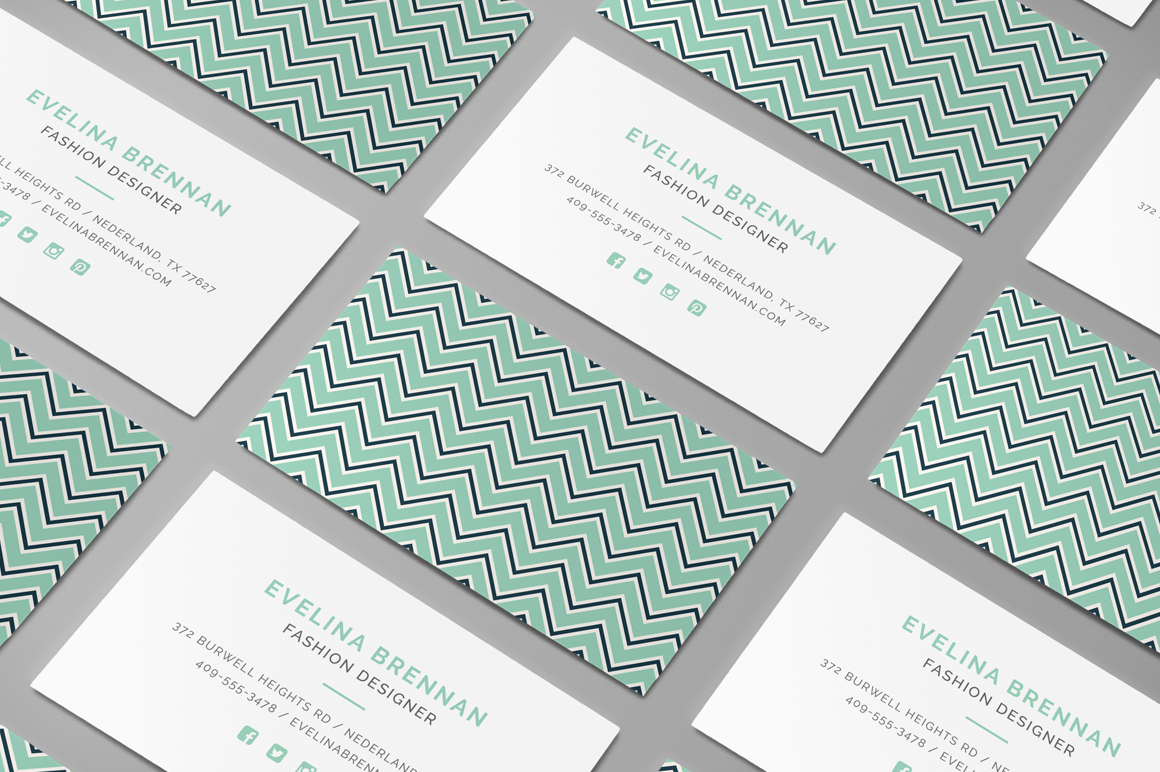 Chevron business card template inspiration cardfaves chevron business card colourmoves