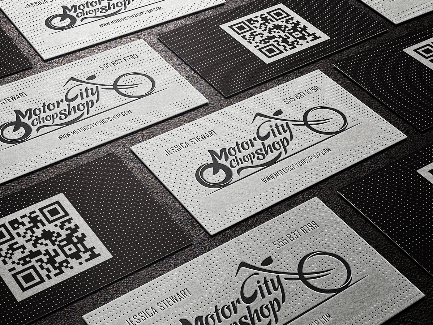 Letterpress business cards inspiration cardfaves motor city chop shop business cards reheart Gallery