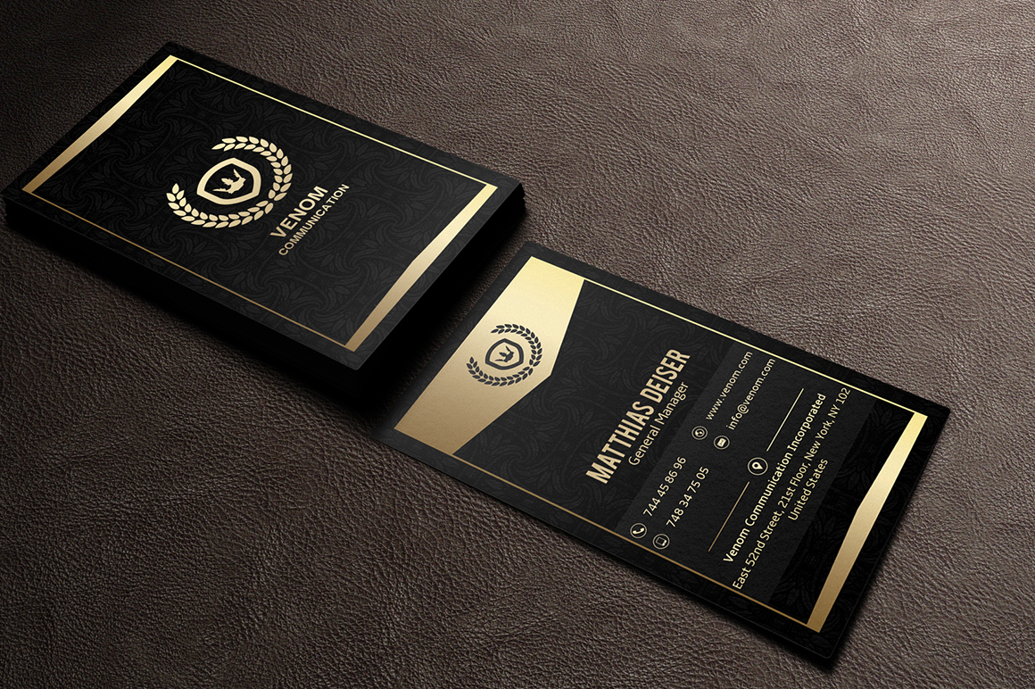 Gold black business card template inspiration cardfaves gold business card colourmoves